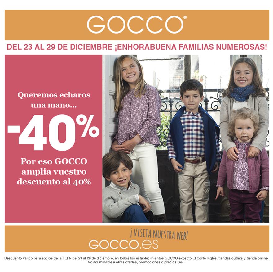 40% de descuento en Gocco