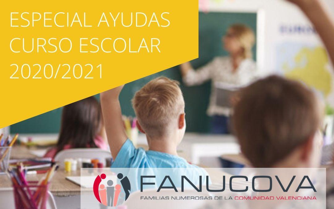 Todas las ayudas educativas para el curso escolar 2020/2021