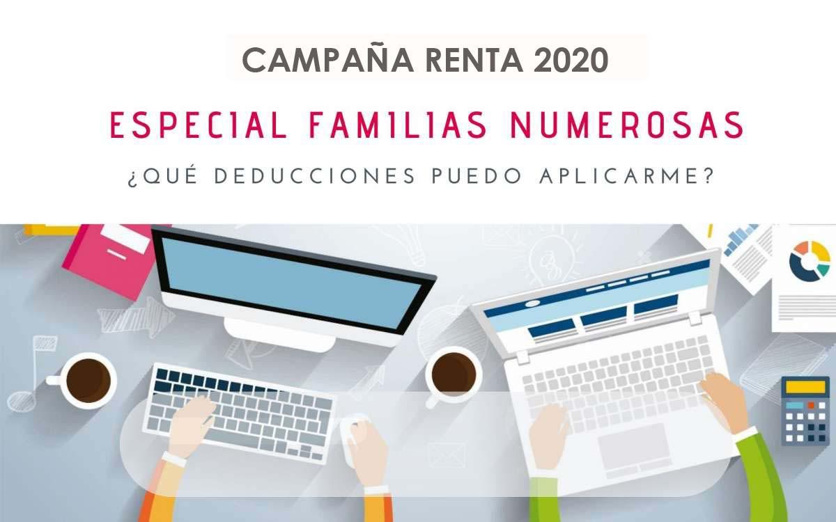 ¿Qué deducciones puedo aplicarme en mi renta del 2020 si soy familia numerosa?